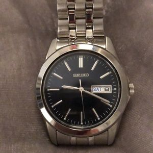 SEIKO stainless steel, water resistant watch